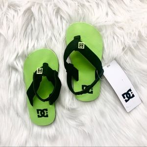 DC Toddlers KEY Sandals Green Black size 7 NWT